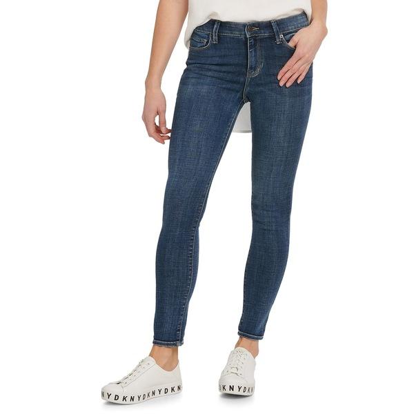 ダナキャランニューヨーク レディース デニムパンツ ボトムス Ankle-Length Skinny Jeans Deep Indigo