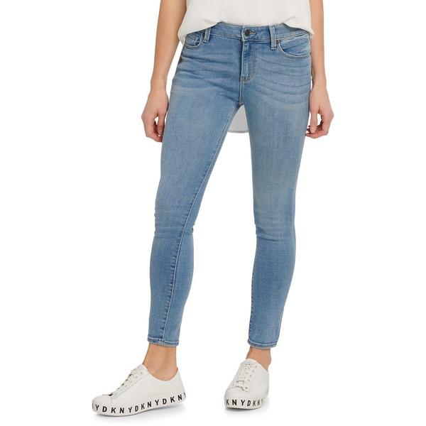 ダナキャランニューヨーク レディース デニムパンツ ボトムス Ankle-Length Skinny Jeans Pure Blue