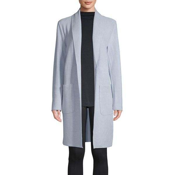 ジョアンバス レディース コート アウター Textured Faux Leather Open-Front Jacket Light Blue