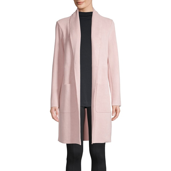 ジョアンバス レディース コート アウター Textured Faux Leather Open-Front Jacket Light Pink