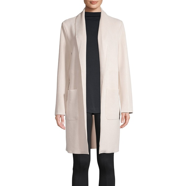 ジョアンバス レディース コート アウター Textured Faux Leather Open-Front Jacket Soft Tan