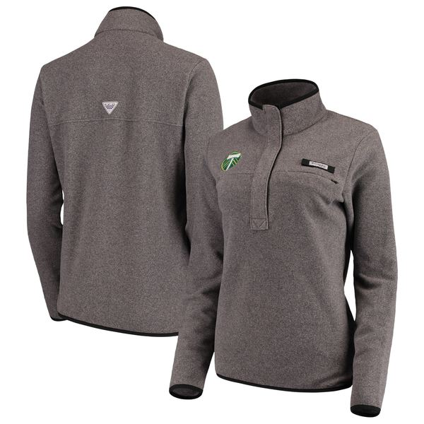コロンビア レディース ジャケット&ブルゾン アウター Portland Timbers Columbia Women's Harborside Fleece Pullover Jacket Black