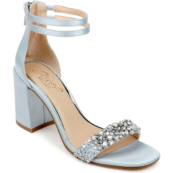 ジュウェルダグレイミシュカ レディース サンダル シューズ Jewel Badgley Mischka Natala Ankle Strap Sandal (Women) Light Blue/ Iridescent