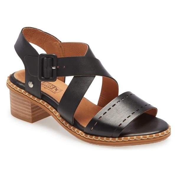 ピコリーノス レディース サンダル シューズ PIKOLINOS Blanes Sandal (Women) Black Leather