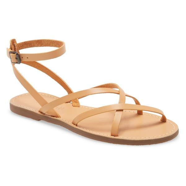 メイドウェル レディース サンダル シューズ Madewell The Boardwalk Skinny Strap Sandal (Women) Ashen Sand