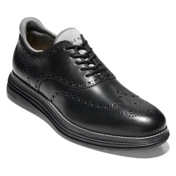 コールハーン メンズ ドレスシューズ シューズ Cole Haan Original Grand Ultra Wingtip (Men) Black Leather/ Black