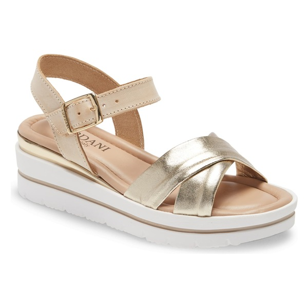 コルダーニ レディース サンダル シューズ Cordani Alma Platform Wedge Sandal (Women) Platinum/ Beige Leather