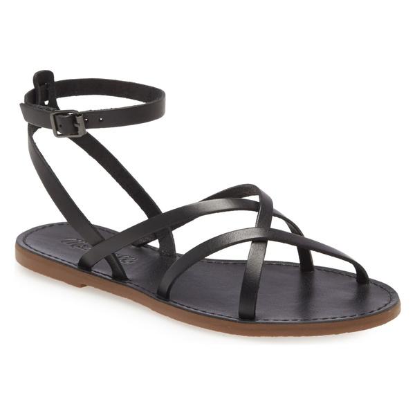 メイドウェル レディース サンダル シューズ Madewell The Boardwalk Skinny Strap Sandal (Women) True Black
