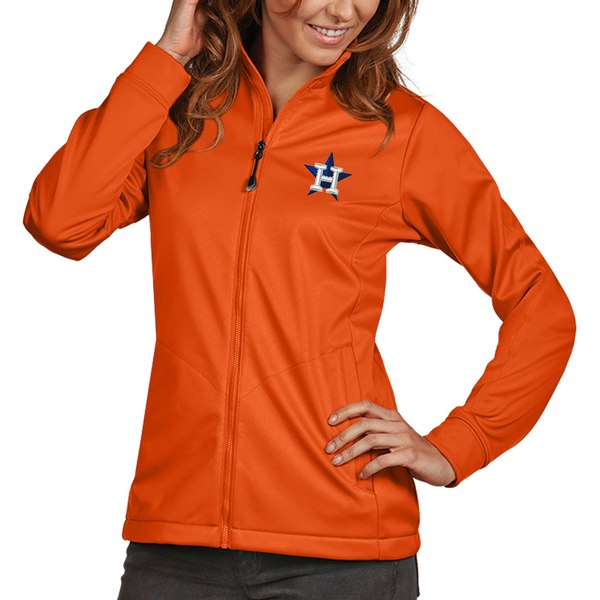 アンティグア レディース ジャケット&ブルゾン アウター Houston Astros Antigua Women's Golf FullZip Jacket Orange