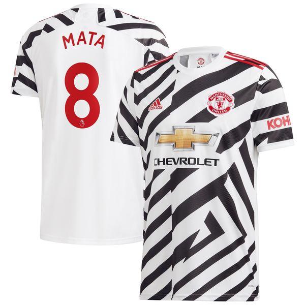 アディダス メンズ ユニフォーム トップス Juan Mata Manchester United adidas 2020/21 Third Replica Player Jersey White