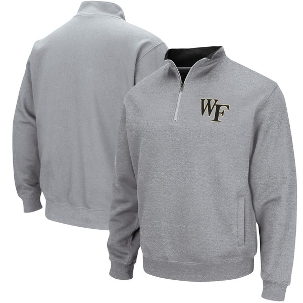 コロシアム メンズ ジャケット&ブルゾン アウター Wake Forest Demon Deacons Colosseum Tortugas Logo QuarterZip Jacket Black
