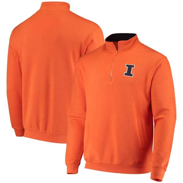 コロシアム メンズ ジャケット&ブルゾン アウター Illinois Fighting Illini Colosseum Tortugas Logo QuarterZip Pullover Jacket Heathered Gray