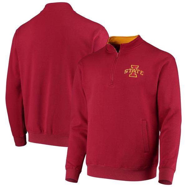 コロシアム メンズ ジャケット&ブルゾン アウター Iowa State Cyclones Colosseum Tortugas Logo QuarterZip Jacket Charcoal