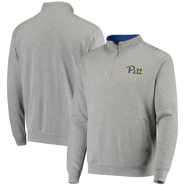 コロシアム メンズ ジャケット&ブルゾン アウター Pitt Panthers Colosseum Tortugas Logo QuarterZip Jacket White