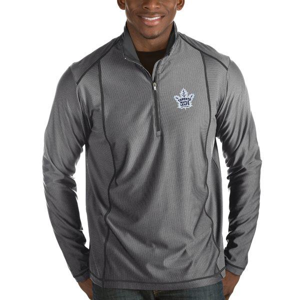 アンティグア メンズ ジャケット&ブルゾン アウター Toronto Maple Leafs Antigua Tempo Desert Dry 1/2Zip Pullover Jacket Charcoal
