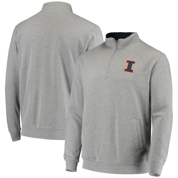 コロシアム メンズ ジャケット&ブルゾン アウター Illinois Fighting Illini Colosseum Tortugas Logo QuarterZip Jacket Navy
