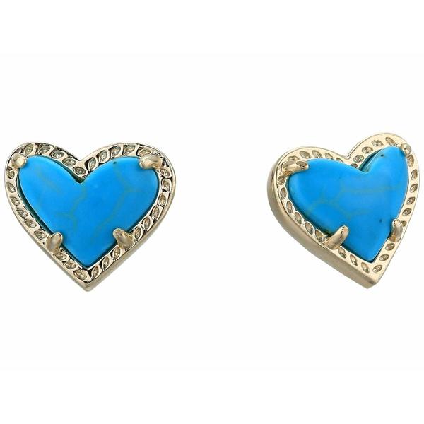 ケンドラスコット レディース ピアス&イヤリング アクセサリー Ari Heart Stud Earrings Gold Turquoise