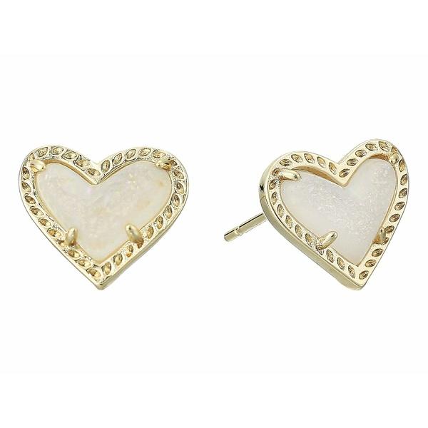 ケンドラスコット レディース ピアス&イヤリング アクセサリー Ari Heart Stud Earrings Gold Iridescent Drusy