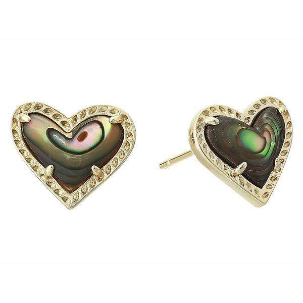 ケンドラスコット レディース ピアス&イヤリング アクセサリー Ari Heart Stud Earrings Gold Abalone Shell