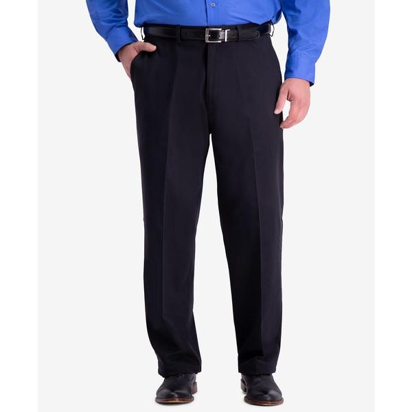 ハガール メンズ ボトムス カジュアルパンツ Black 当店は最高な サービスを提供します 全商品無料サイズ交換 Men's Big Tall Flat-Front Pants Stretch Non-Iron PRO W2W Relaxed-Fit Performance 人気急上昇 Casual