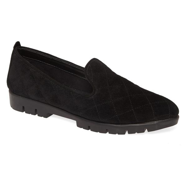 ザフレックス レディース サンダル シューズ The FLEXX Quilt Smoking Loafer (Women) Black Suede