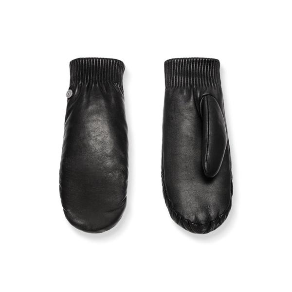 カナダグース レディース 手袋 アクセサリー Canada Goose Rib Cuff Leather Mittens Black