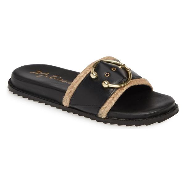 マチス レディース サンダル シューズ Matisse Hampton Slide Sandal (Women) Black