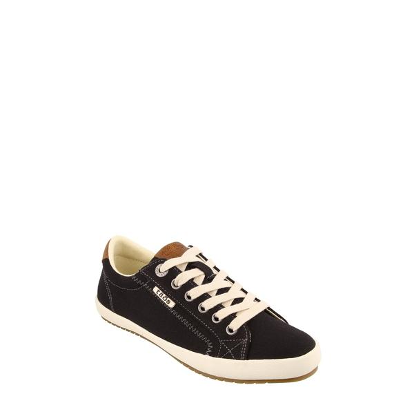 タウス レディース スニーカー シューズ Starburst Sneaker Black/ Tan Canvas