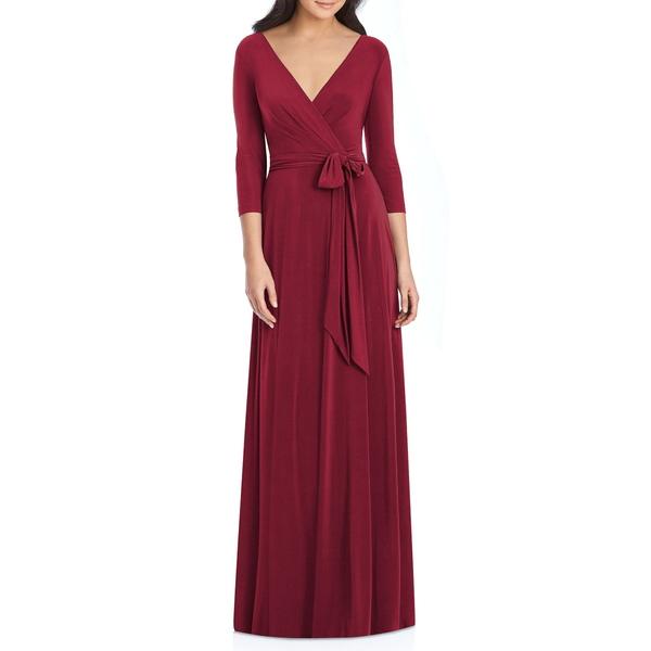 ドレッシーコレクション レディース ワンピース トップス Jersey Tie Waist Gown Burgundy