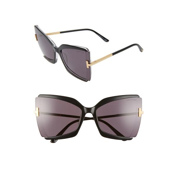 トム フォード レディース サングラス&アイウェア アクセサリー Gia 63mm Oversize Butterfly Sunglasses Black Crystal Grey 七夕祭り 年末バーゲン お中元 お祝い