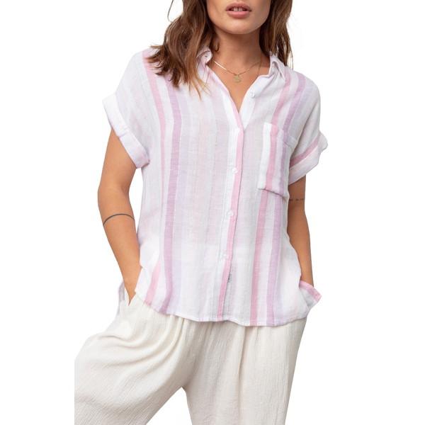 レイルズ レディース シャツ トップス Whitney Print Shirt Sahara Stripe