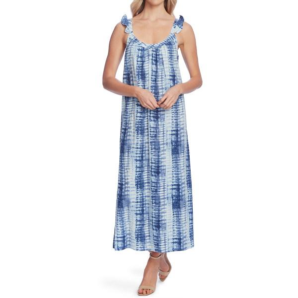 ヴィンスカムート レディース ワンピース トップス Ruffle Strap Maxi Dress Blue Cloud