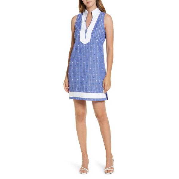 エリザジェイ レディース ワンピース トップス Stripe Shift Dress Navy/ White