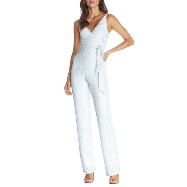ドレスザポプレーション レディース ワンピース トップス Kinsley Sequin Jumpsuit White Multi