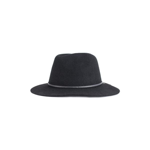 ブリクストン レディース ヘアアクセサリー アクセサリー 'Wesley' Wool Fedora Black