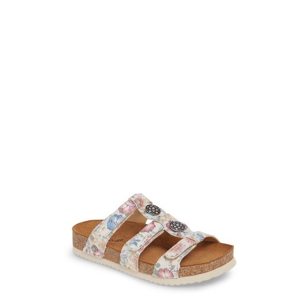 ハフィンガー レディース サンダル シューズ Alice Slide Sandal Ice Bloom Leather