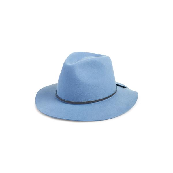 ブリクストン レディース ヘアアクセサリー アクセサリー 'Wesley' Wool Fedora Casa Blanca Blue