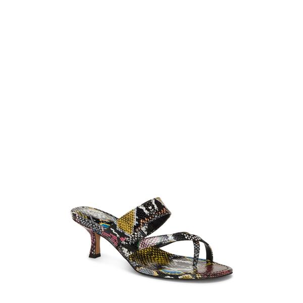 ヴィンスカムート レディース サンダル シューズ Moentha Slide Sandal Multi Snake Print Leather