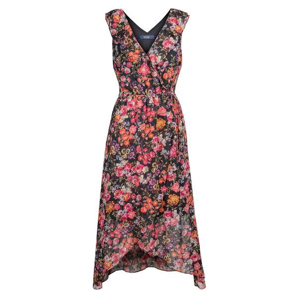 ライチェルレイチェルロイ レディース ワンピース トップス Stripe Floral Print Wrap Dress Black Combo