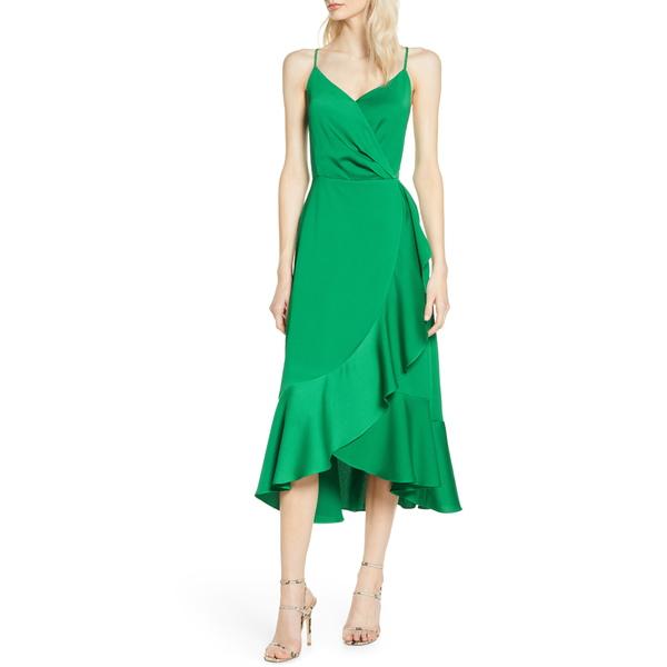チェルシー28 レディース ワンピース トップス A-Line Midi Dress Green Peacock