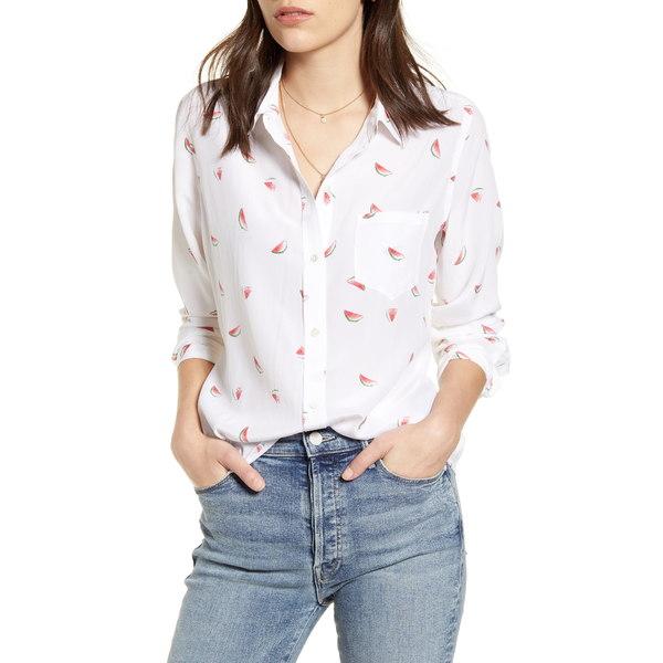 レイルズ レディース シャツ トップス Kate Print Shirt White Watermelon Slices