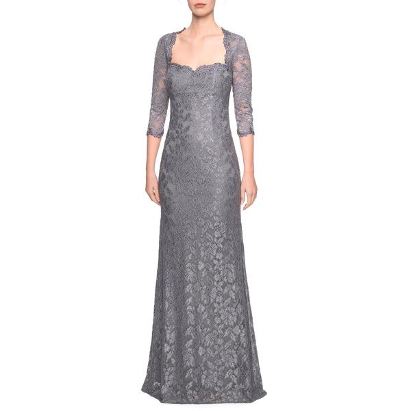 ラフェム レディース ワンピース トップス Lace Trumpet Gown Platinum