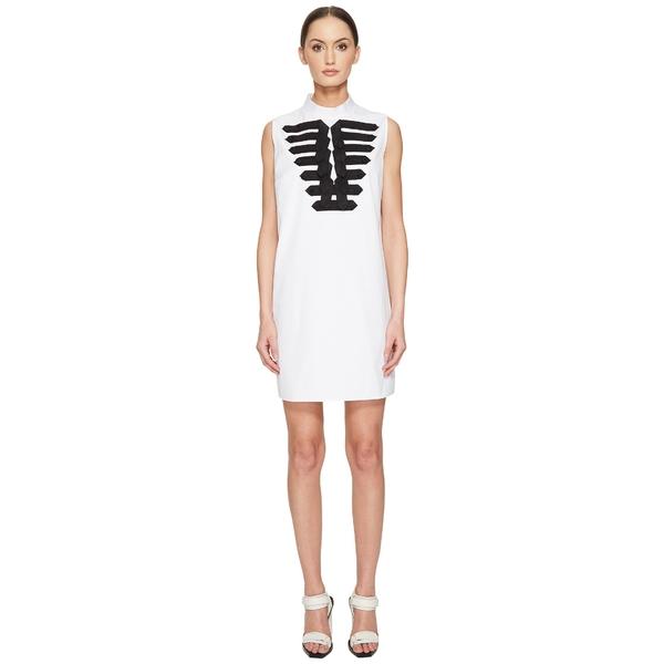 ディースクエアード レディース ワンピース トップス Cotton Poplin Marching Shirt Dress White