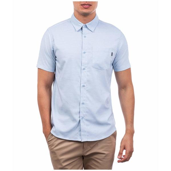 ハーレー メンズ シャツ トップス Dri-FIT Marwick Stretch Short Sleeve Woven Shirt Light Armory Blue