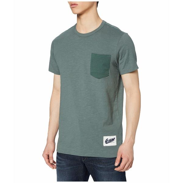 ジースター メンズ シャツ トップス Contrast Pocket Round Neck T-Shirt Grey Moss