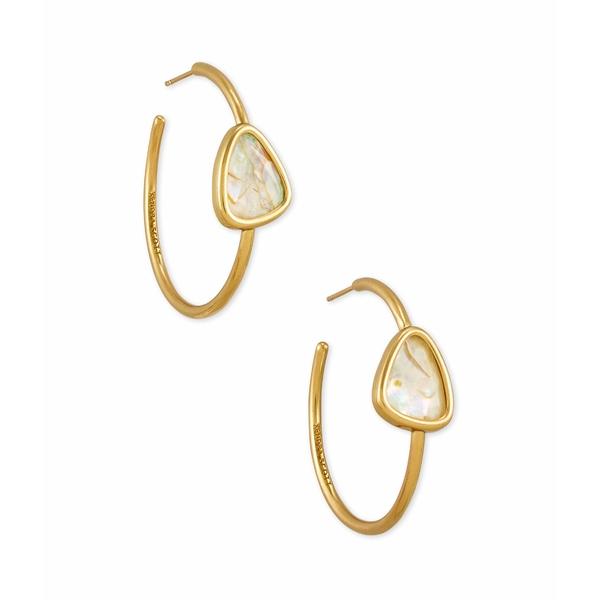 ケンドラスコット レディース ピアス&イヤリング アクセサリー Margot Hoop Earrings Vintage Gold White Abalone