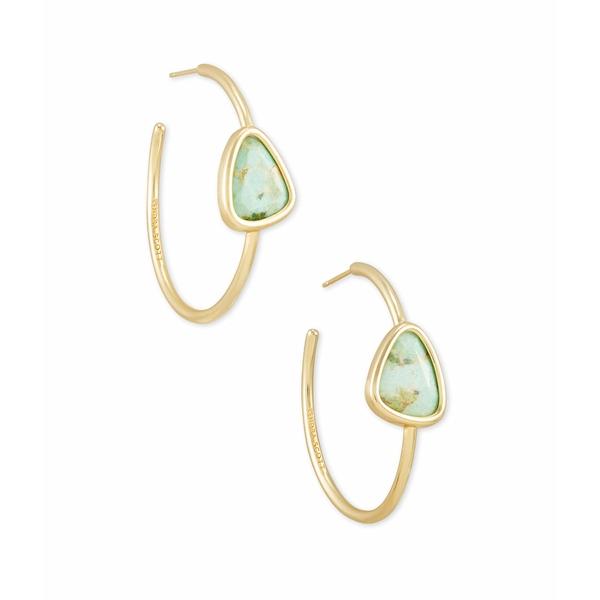 ケンドラスコット レディース ピアス&イヤリング アクセサリー Margot Hoop Earrings Gold Sea Green Chrysocolla