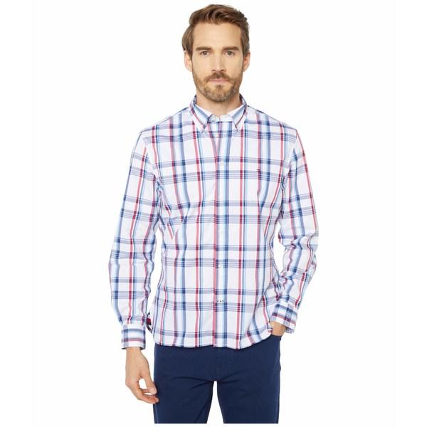 トミーヒルフィガー メンズ シャツ トップス Magnetic Long Sleeve Button Down Shirt Custom Fit Bright White