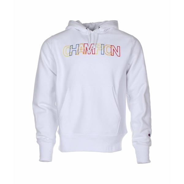 チャンピオン メンズ パーカー・スウェットシャツ アウター Reverse Weave Pullover Hoodie - All Over Print White