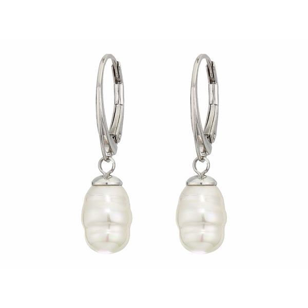 マジョリカ レディース ピアス&イヤリング アクセサリー 8 mm Baroque Pearl Earrings White